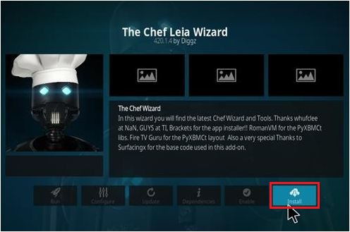 Install The Chef Leia Wizard