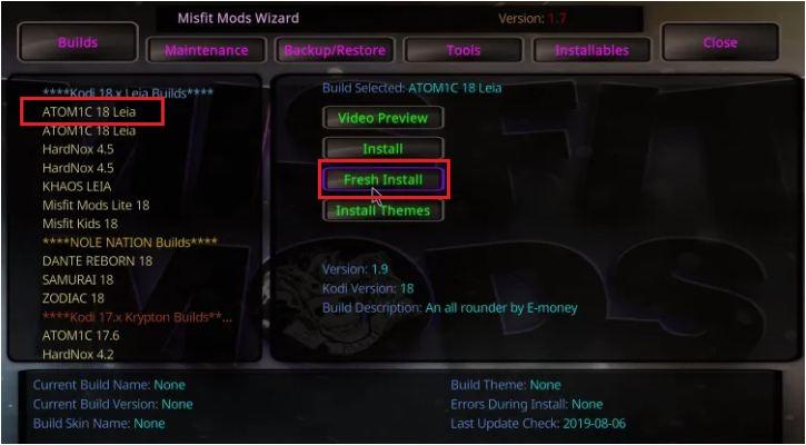 Open Misfit Mods Wizard