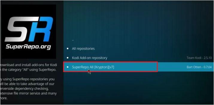 Select SueperRepo All Krypton