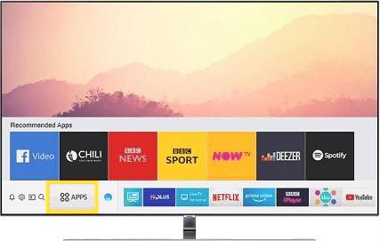 Apps Option on Samsung Smart TV