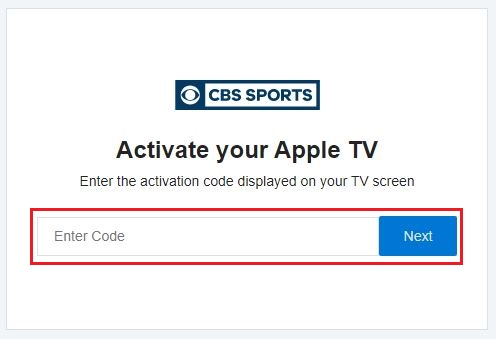 Activate CBS Sports on Apple TV