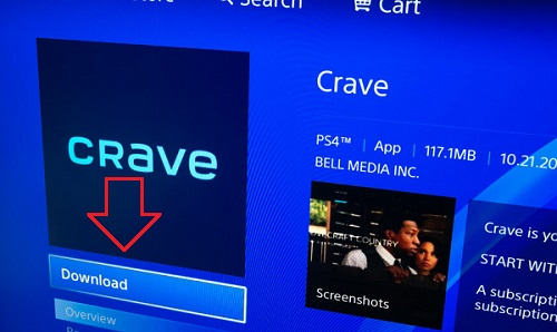 Download Crave App on PS4