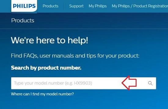 Enter Philips TV Model Number