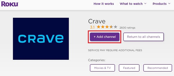 Get Crave on Roku