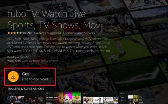Get FuboTV on Firestick