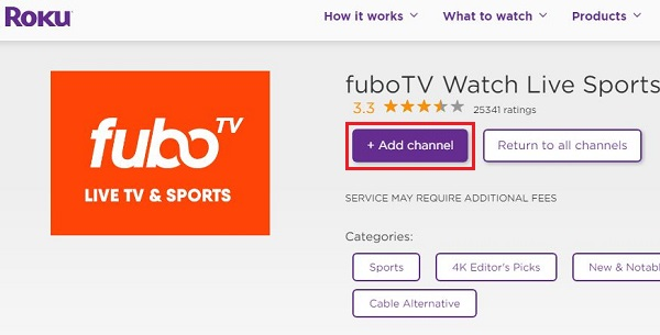 Get FuboTV on Roku