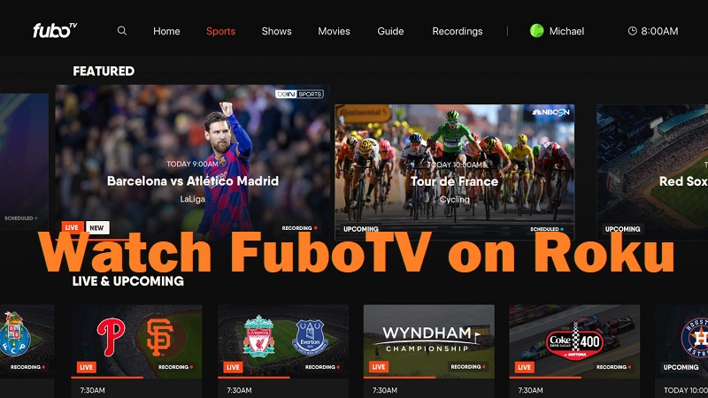 Watch FuboTV on Roku TV